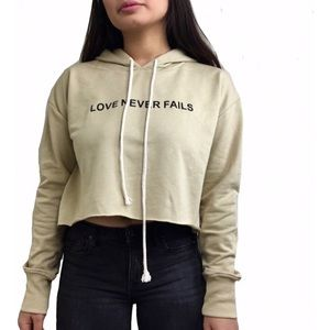 LOVE & OTHER | Cropped Pullover Hoodie